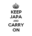 KEEP JAPA AND CARRY ON - Personalised Poster large
