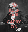 KEEP KARL AND CARRY ON - Personalised Poster large