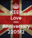 KEEP Love AND Anniversary 220512 - Personalised Poster large