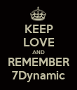 KEEP LOVE AND REMEMBER 7Dynamic - Personalised Poster large