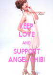 KEEP LOVE AND SUPPORT ANGEL CHIBI - Personalised Poster large