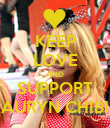 KEEP LOVE AND SUPPORT AURYN CHIBI - Personalised Poster large