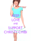 KEEP LOVE AND SUPPORT CHRISTY CHIBI - Personalised Poster large