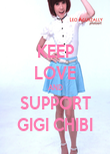 KEEP LOVE AND SUPPORT GIGI CHIBI - Personalised Poster large