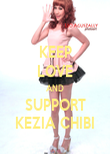 KEEP LOVE AND SUPPORT KEZIA CHIBI - Personalised Poster large