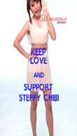 KEEP LOVE AND SUPPORT STEFFY CHIBI - Personalised Poster large