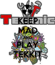 KEEP MAD AND PLAY TEKKIT - Personalised Poster large