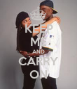 KEEP ME AND CARRY ON - Personalised Poster large