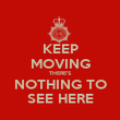 KEEP MOVING THERE'S NOTHING TO SEE HERE - Personalised Poster large