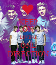 KEEP ON LOVING ONE DIRECTION - Personalised Poster large
