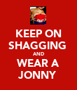 KEEP ON SHAGGING  AND WEAR A JONNY  - Personalised Poster large