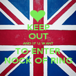 KEEP OUT AND IF U WANT TO ENTER NOCK OF RING - Personalised Poster large