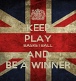 KEEP PLAY BASKETBALL AND BE A WINNER - Personalised Poster large