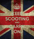 KEEP SCOOTING AND CARRY ON - Personalised Poster large