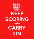 KEEP SCORING AND CARRY ON - Personalised Poster large