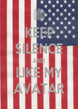 KEEP SILENCE AND LIKE MY AVATAR - Personalised Poster large