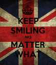 KEEP SMILING NO MATTER WHAT - Personalised Poster large
