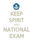 KEEP SPIRIT FOR NATIONAL EXAM - Personalised Poster large