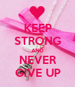 KEEP STRONG AND NEVER GIVE UP - Personalised Poster large