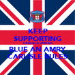 KEEP SUPPORTING CARLISLE UNITED BLUE AN AMRY CARLISLE RULES - Personalised Poster large