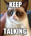 KEEP TALKING  - Personalised Poster large
