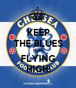 KEEP THE BLUES FLAG FLYING HIGH! - Personalised Poster large