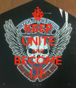 KEEP UNITE AND BECOME IJF - Personalised Poster large