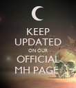 KEEP UPDATED ON OUR OFFICIAL MH PAGE  - Personalised Poster large
