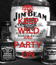 KEEP WILD AND PARTY ON - Personalised Poster large