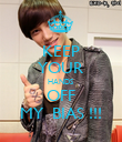 KEEP YOUR HANDS  OFF MY  BIAS !!! - Personalised Poster large