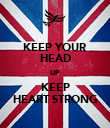 KEEP YOUR HEAD UP  KEEP HEART STRONG - Personalised Poster large