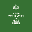 KEEP YOUR WITS AND HUG TREES - Personalised Poster large