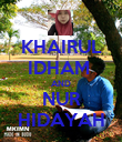 KHAIRUL IDHAM  AND NUR HIDAYAH - Personalised Poster large