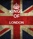 KINGS  OF LONDON   - Personalised Poster large
