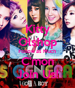 Kitty Olshop Follow as Much C'mon Join Us! - Personalised Poster large