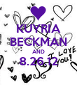 KUYRIA BECKMAN AND 8.26.12  - Personalised Poster large