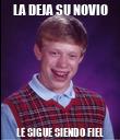 LA DEJA SU NOVIO LE SIGUE SIENDO FIEL - Personalised Poster large