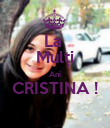 La  Mulţi Ani CRISTINA !  - Personalised Poster large