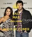 LALI MAS BENJAMIN = ALGO DE COMER - Personalised Poster large
