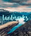 landmarks - Personalised Poster large