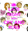 LATE NIGHT WITH CRY AND RUSS - Personalised Poster large