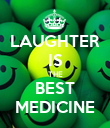 LAUGHTER IS THE BEST MEDICINE - Personalised Poster large