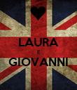 LAURA E GIOVANNI  - Personalised Poster large