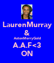 LaurenMurray & AstonMerryGold A.A.F<3 ON - Personalised Poster large