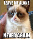 LEAVE ME ALONE NEVER AGAIN - Personalised Poster large