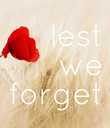 lest we forget - Personalised Poster large