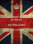LET THEM COME AFTER US WE WELCOME THE CHASE  - Personalised Poster large