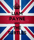 LIAM PAYNE AND THE TURTLES - Personalised Poster small