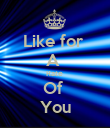 Like for  A  Rate  Of  You - Personalised Poster large