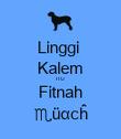 Linggi  Kalem ITU Fitnah ♏üαcĥ - Personalised Poster large